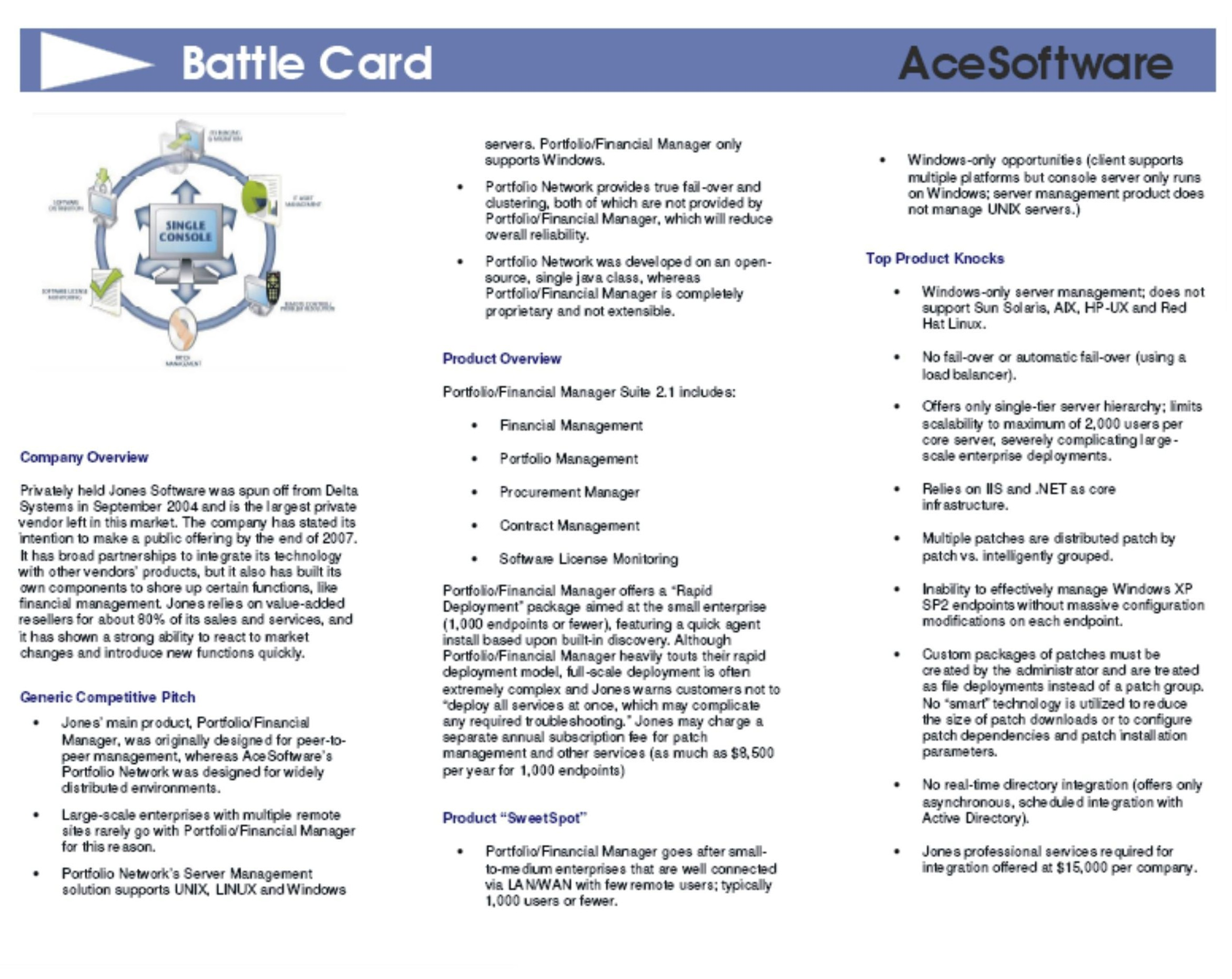 Battle Cards And Sales Guides Sample Reports